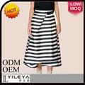 el estilo clásico de alta calidad impresa patrón formal de las señoras traje de falda