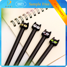 Novelty Black Cute Cat 0.5mm Gel Ink PLASTIC School Office Stationery writing Pen for Promotional Gift
