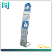 metal brochure catalogue magazine stands supermarket shelf HSX-S1239