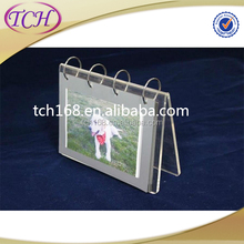 Wholesale china products acrylic calendar holder with pvc sleeve