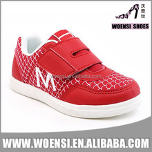 latest popular unique children red low cut skateboard shoes