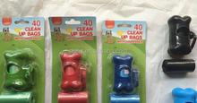 printing grean bone dog poo bags on roll