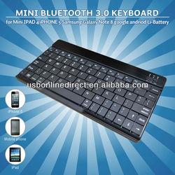 Li-Battery 80keys slim mini wireless Bluetooth 3.0 keyboard for Mini IPAD 4 smartphone andriod phone