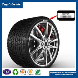 high temperature material PET rubber hot sale PP synthetic high tempersture self adhesive tyre label