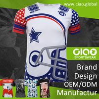 American football design dri fit t shirt