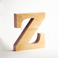 Customized carving wooden alphabet letters, decorative 3d wood letters