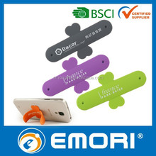 Factory direct sell reusable one touch you silicone mobile phone security stand