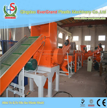 Plastic film recycling and washing line
