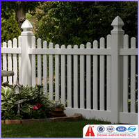 pvc picket gothic fencing