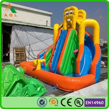 popular spongebob heavy duty inflatable water slides for sale