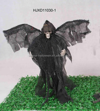 "18"" Black fabric red eyes light-up wings shaking with ghost sound reaper"