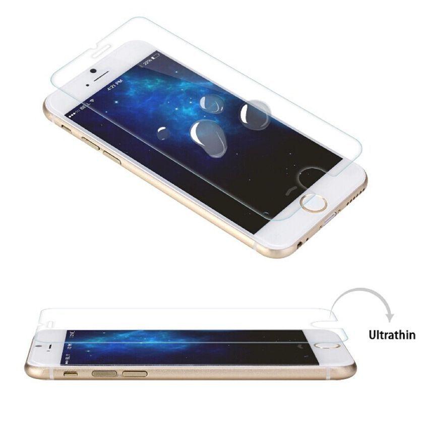 9H anti-fingerprint / anti-broken tempered glass screen guard for iphone 6 plus