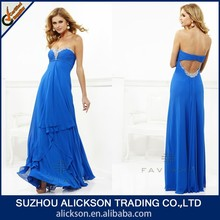 Comely Sweetheart Strapless Floor Length Beaded Real Sample Evening Dress