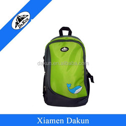 Softback Type and Day Backpack school bag raw material with offset printing DK14-0181/ Dakun