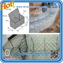 1x1x1, gabion box stone cage,High Zinc Galvanized Gabion Boxes / PVC coated Gabion Baskets/ stone cage (direct factory)