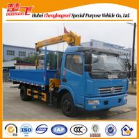 DFAC 4x2 140HPS XCMG truak crane,7 ton truck cranes