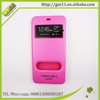 China custom leather case mobile phone for tecno Zmini