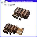 Adultos juguete de madera al por mayor puzzles/rompecabezas siw-m6c caja
