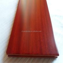 multi-layer UV coating engineered red sapele wooden flooring