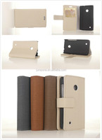 Luxury jean Texture wallet Leather Case with Credit Card Slot for Nokia LUMIA 530