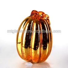 2015 Mintao Hot Popular resin pumpkin with shiny colored for Halloween/glass pumpkin