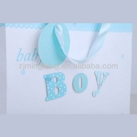 high quality kraft paper shopping bag with ribbon handle wholesale