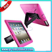 2013 hot sale 2 in 1 silicone+pc phone case for ipad mini with stand