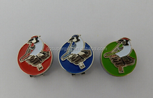 OEM soft enamal magnetic golf ball marker/ hat clip mark / cap clip marker