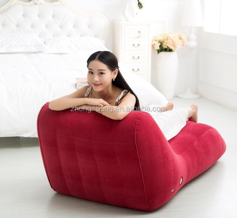 PVC S Form Aufblasbare Deck Sofa Stuhl Für Erwachsene