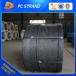 7 Wire 1860MPa 15.24mm PC Steel Strand for Bridge Building Construction