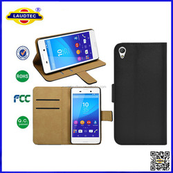 High Quality Stand Leather Magnetic Wallet Case for Sony Xperia Z3 ,Z4,M4 Aqua
