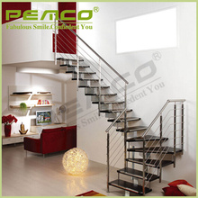 Best Professional Project Factory For Indoor/Outdoor Removable Clear Glass Stair Balcony Stainless Steel Balustrade