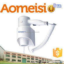 CE approved 1300w Double safety switch hotel wall mount hair dryer