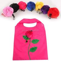 Rose Flowers Reusable Folding Shopping Bag Travel Grocery Bags