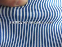 T/C fabric cotton blue and white striped