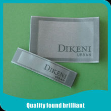 customized newest satin woven label for clothing