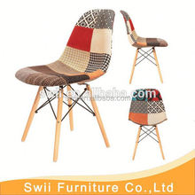 dining chair colorful plastic chair with wood leg