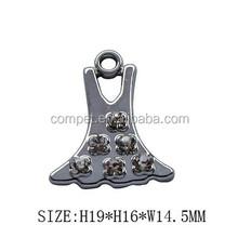 dress shape Pendant Charms for Necklace ,earrings ,mobilephone pendants