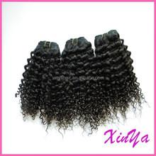 Various Lengths Avaliable Natural Black 7A brazilian curly virgin hair
