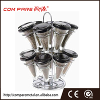 Rotating Revolving Stainless Steel Hanging Spice Rack