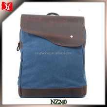 Navy blue canvas backpack for travel fabric for backpack backpack water gun