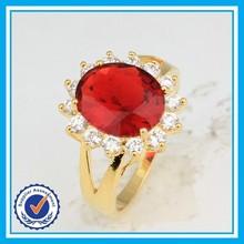 Preço de fábrica anel de coral vermelho fashion 18 k anel de rubi ouro designs para homens