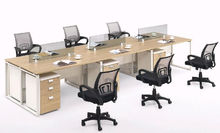 Modern office workstation and glass room dividers