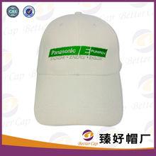 verde el logotipo bordado de tela de algodón blanco tapa de la marca