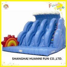 2015 hot sale PVC 0.55mm customized inflatable water slide with multiple lanes price in china