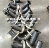 22.5 degree flanged UHMWPE elbow