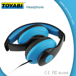comfortable wearing Stereo Lightweight Foldable Headphones Adjustable Headband Headsets with Microphone 3.5mm