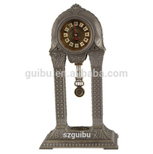 China metal antique standing skeleton clock