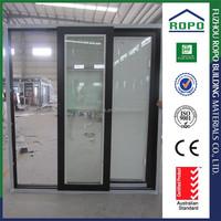 White UPVC frame three panels wholesale insulated glass door inserts