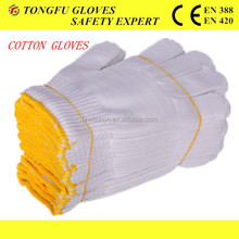 Made in china factory price 2015 top sale safety gloves,safety cotton gloves 10gauge cotton Knitted working safety gloves EN388